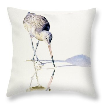 Marbled Godwit Times Three Throw Pillow