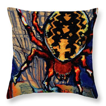 Marbled Orbweaver Throw Pillow