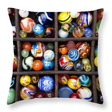 Marbleous Throw Pillow