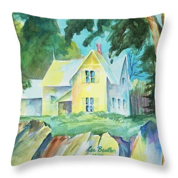 Marblehead Cottage Throw Pillow by Lee Beuther