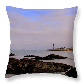 Marblehead Harbor And Light Throw Pillow