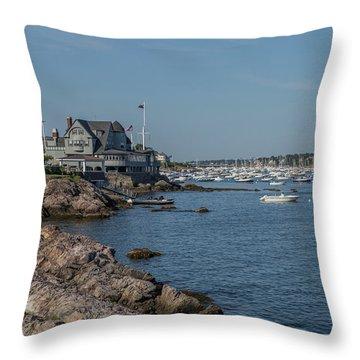 Marblehead Harbor Throw Pillow