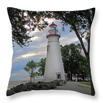 Throw Pillow featuring the photograph Marblehead Ohio by Angela Murdock