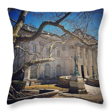 Marble House Throw Pillow