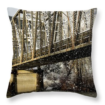 Marblemount Wa Bridge Throw Pillow