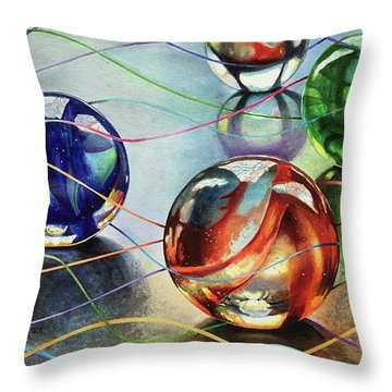 Marbles 4 Throw Pillow
