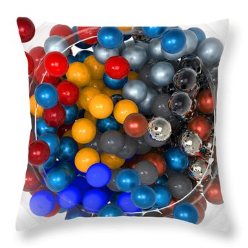 Marbles At Rest Throw Pillow