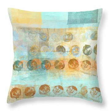Throw Pillow featuring the mixed media Marbles Found Number 3 by Carol Leigh