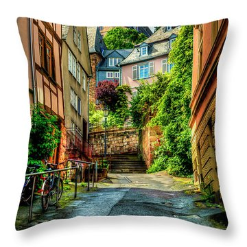 Throw Pillow featuring the photograph Marburg Alley by David Morefield