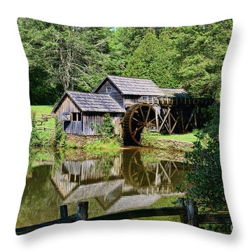 Marby Mill 2 Throw Pillow by Paul Ward