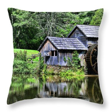 Marby Mill 3 Throw Pillow by Paul Ward