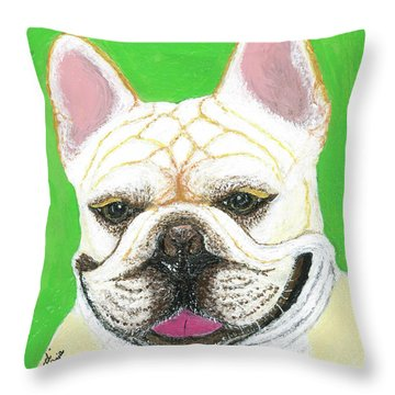 Marcel French Bulldog Throw Pillow