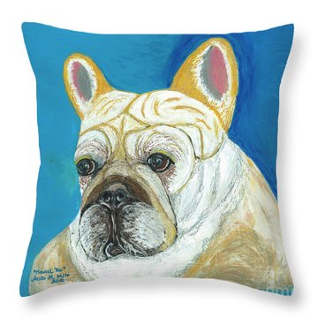 Throw Pillow featuring the painting Marcel II French Bulldog by Ania M Milo