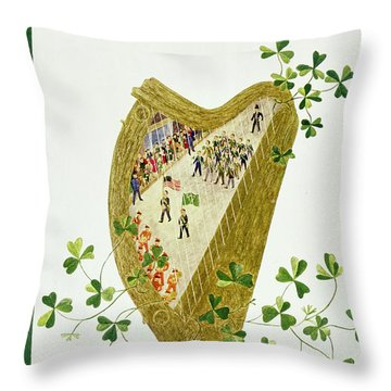 March 17 1956 Throw Pillow
