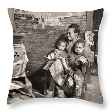 March 1937 Scott's Run, West Virginia Johnson Family. Throw Pillow