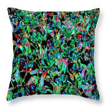 March Of The Flowers Throw Pillow by Rodger Insh