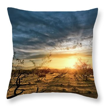 Throw Pillow featuring the photograph March Sunrise by Lynn Geoffroy