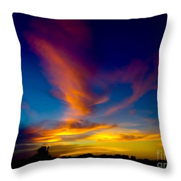 Sunset March 31, 2018 Throw Pillow
