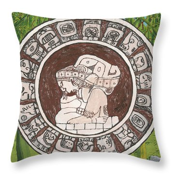 March  The Mayan Calendar Throw Pillow