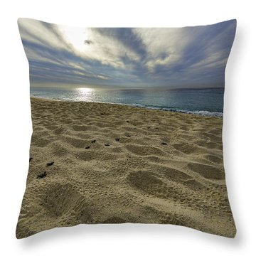 March To The Sea Throw Pillow