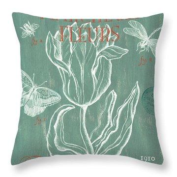 Marche Aux Fleurs Throw Pillow