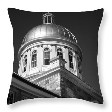 Marche Bonsecours  Throw Pillow by Juergen Weiss