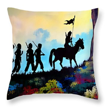 Marching At Daybreak Throw Pillow