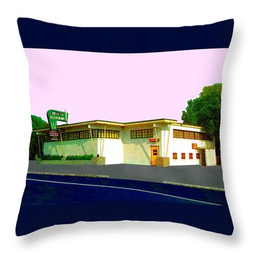 Marconi's Restaurant Throw Pillow