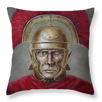Marcus Cassius Scaeva Throw Pillow by Arturas Slapsys