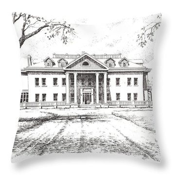Marcus Daly Mansion Hamilton Montana Throw Pillow by Kevin Heaney