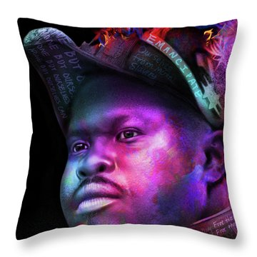 Marcus Garvey Portrait Throw Pillow