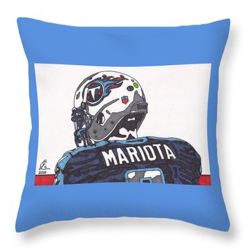Marcus Mariota Titans 2 Throw Pillow