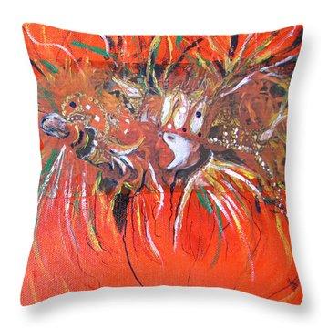 Mardi Gras 2 Throw Pillow by Gary Smith
