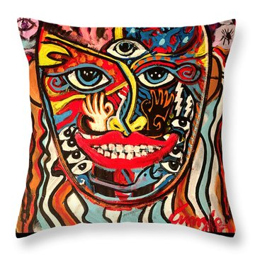 Mardi Gras 2018 Throw Pillow