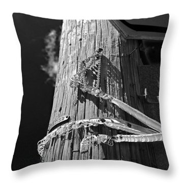 Throw Pillow featuring the photograph Mardi Gras Aftermath 1 by Maggy Marsh