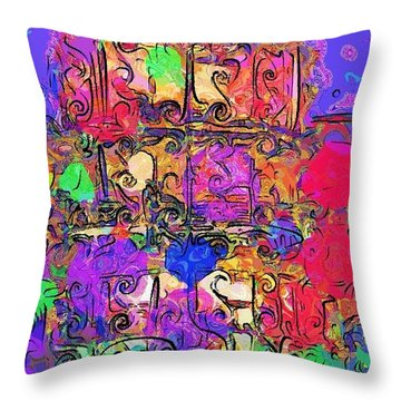 Throw Pillow featuring the digital art Mardi Gras by Alec Drake