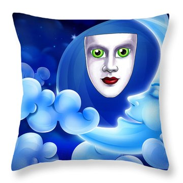 Mardi Gras At Night Throw Pillow