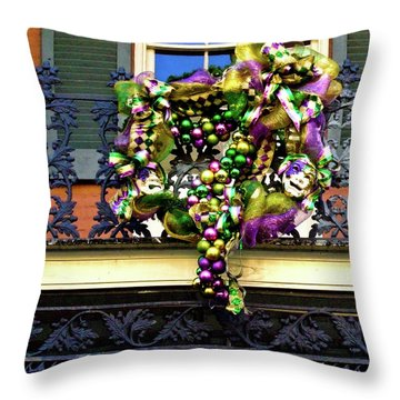 Mardi Gras Decor 1 Throw Pillow