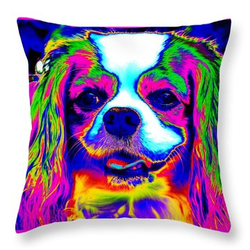 Mardi Gras Dog Throw Pillow