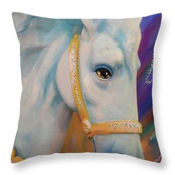 Mardi Gras Horse Throw Pillow