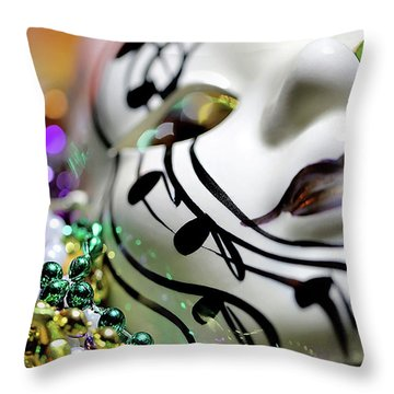 Mardi Gras I Throw Pillow