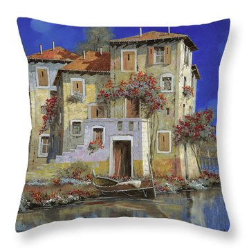 Mareblu' Throw Pillow by Guido Borelli