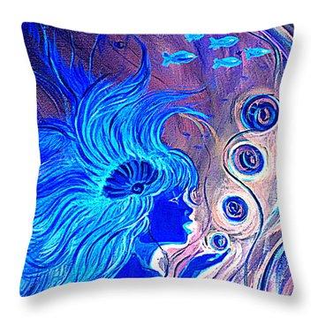 Maremaid  Throw Pillow