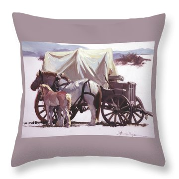 Mare's Pride Throw Pillow