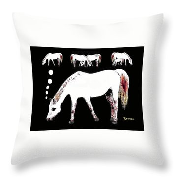 Throw Pillow featuring the photograph Mares Tale by Sadie Reneau