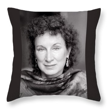 Margaret Atwood Throw Pillow by Shaun Higson