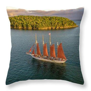 Margaret Todd Schooner Throw Pillow