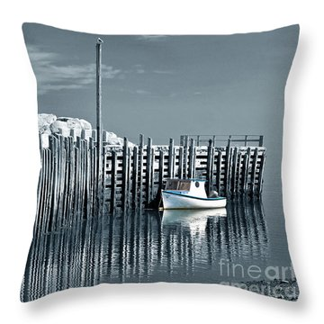 Margaretsville Wharf  Throw Pillow