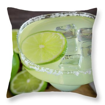Throw Pillow featuring the photograph Margarita Close Up by Teri Virbickis