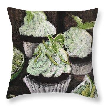 Margarita Cupcakes Throw Pillow